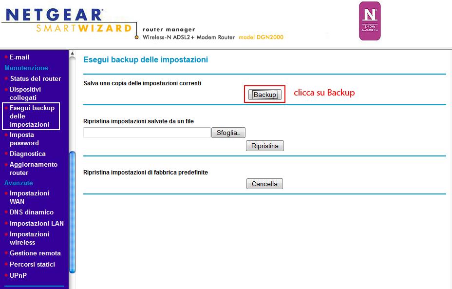 trucchi internet router netgear 05 Router NETGEAR DGN2000