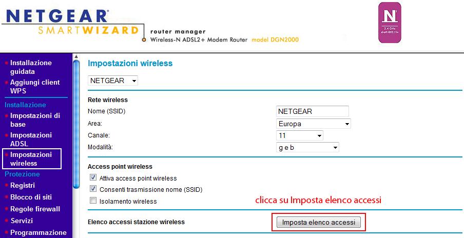 trucchi internet router netgear 08 Router NETGEAR DGN2000