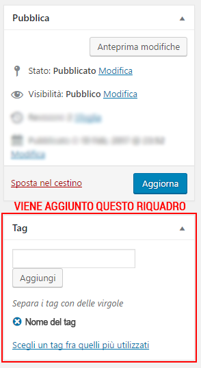 wordpress aggiunta tags Aggiungere Tags su WordPress